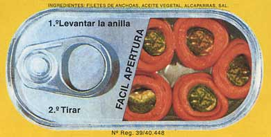 a can of anchovy-wrapped capers