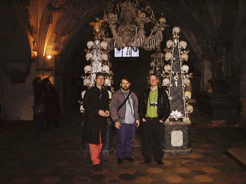 The Tape-beatles at the Ossuary, Kutna Hora